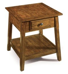 The Country Living Heritage End Table is crafted from poplar solids and hickory veneers, while featuring a beautiful hickory finish. With a hickory skybed table top and tapered legs, this end table provides a unique combination of style and function! Country Living, Cool Things To Make, End Tables, Traditional, Wood, Furniture, Hallways, Home Decor, Bing Images