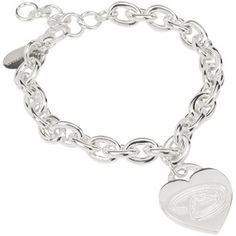 Arizona Diamondbacks Ladies Silver Heart Charm Bracelet
