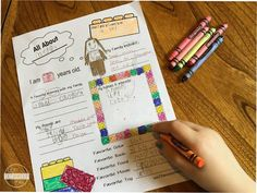 First Day Of (Home)school - all about me worksheets for kids