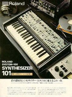 Old Japanese Roland 101 Ad