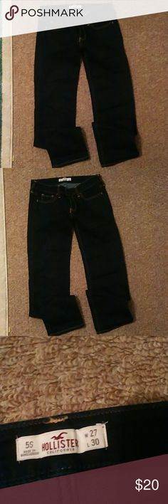 Hollister Dark blue Hollister jeans 5S W27 L30 Hollister Jeans Straight Leg