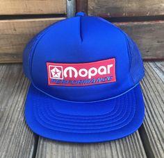 ec9f97f525c Just Listed  rebelfrayvintage On  Etsy   MOPAR Performance Vintage Blue  Snapback Trucker Hat