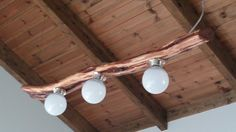 Hanging cedar led lamp