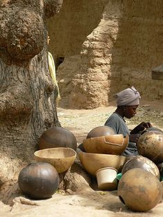 -Calabashes for sale, Mali..