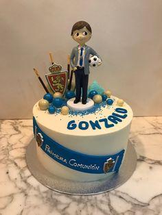 Tarta buttercream fútbol. Birthday Cake, Desserts, Food, Fondant Cakes, Lolly Cake, Candy Stations, Tailgate Desserts, Deserts, Birthday Cakes