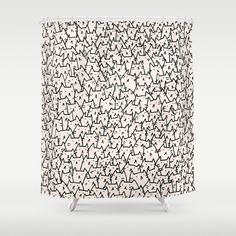Buy Shower Curtains featuring A Lot of Cats by Kitten Rain. Made from 100% easy care polyester our designer shower curtains are printed in the USA and feature a 12 button-hole top for simple hanging.