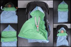 inspiration for hooded car seat swaddles