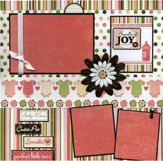 Bundle of Joy - 12x12 Premade Scrapbook Page. $15.95, via Etsy.