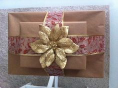 Dollar tree gift wrapping :)