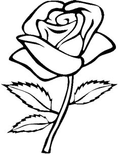 outline border of a rose clipart Clip art borders Clipart black and white