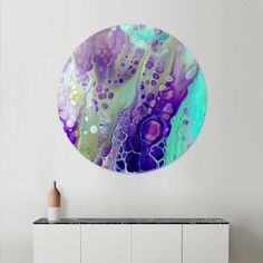 Discover «purple cells», Exclusive Edition Disk Print by Annemarie Ridderhof - From 80€ - Curioos