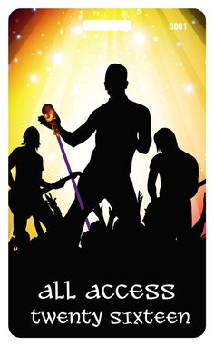 Backstage Passes for Rock Concerts have never looked this epic before! Our professional, attractive silhouette design against stage light background will have your VIPs excited to attend your rockin' event.