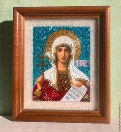 Купить Икона св.муч.Татиана - тёмно-бирюзовый, икона в подарок, именная икона, Татьяна