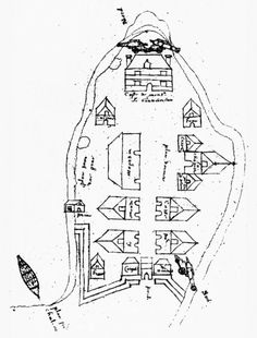 Plan of Montreal, 1644
