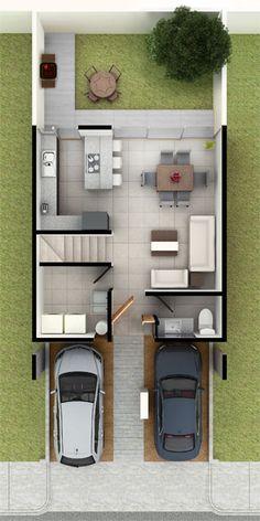 Casas en Querétaro - Modelo Eka Planta baja - Antalia Residencial