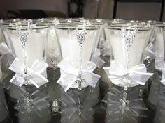 Baptism Invitation Wording, Lace Candles, Baptism Centerpieces, Baptism Candle, Communion Favors, Baptism Party, First Communion, Christening, Party Favors