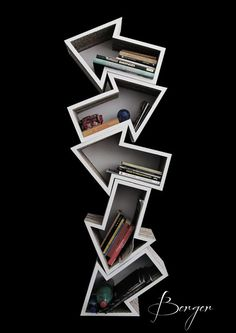 Casual Bookshelf Design Ideas To Decorate Your Room 03 Cardboard Furniture, Cool Furniture, Furniture Design, Furniture Dolly, Furniture Market, Modern Furniture, Creative Bookshelves, Bookshelf Design, Bookshelf Ideas