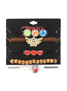 The Legend Of Zelda Icons Bracelet 4 Pack,