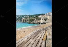 Gangway on the beach, Panoramic view by JCB Photogr@phic on @creativemarket