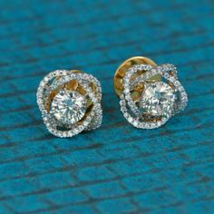 AGS Certified White Gold Diamond Round-Cut Stud Earrings K-L Color, Clarity) – Finest Jewelry Fancy Earrings, Solitaire Earrings, Gold Earrings Designs, Gold Diamond Earrings, Diamond Jewelry, Gold Jewelry, Vintage Jewelry, Hoop Earrings, Jewellery Box