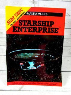 Star Trek The Next Generation Starship USS Enterprise Make A Model Kit 1990 #NextGeneration #Starship #USSEnterprise #MakeAModel #1990 #Star #Trek #StarTrek