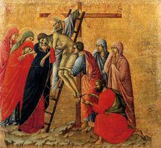 Duccio di Buoningsegna Maesta, Kreuzabnahme