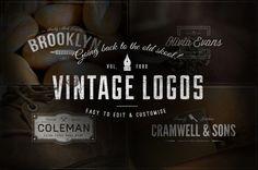 #fontdesign, #font, #VintageLogo by #IanBarnard