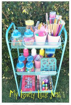 I have this same cart from Kmart, it should work well for organising classroom materials. Sand Crafts, Fun Diy Crafts, Crafts For Girls, Summer Crafts, Crafts To Sell, Home Crafts, Kids Craft Storage, Arts And Crafts Storage, Diy Crafts For Bedroom