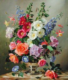 Imágenes de Flores Pintadas al Óleo