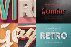 Vintage Text Effects Vol.1 by Zeppelin Graphics on Creative Market