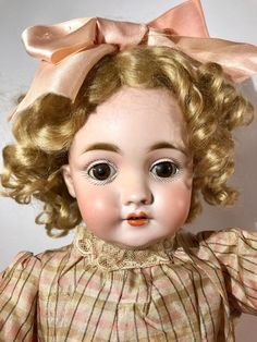 "Stunning Early All Original 18"" Kestner 143 Character Doll Antique German Bisque"