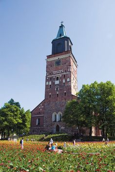Turku Cathedral in summer