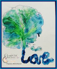 Beautiful sea glass inspired placenta print!