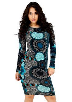 Trendy Dresses-Cute Elegant Dress-Long sleeve bodycon dress #dresses #style #fashion #modaxpress