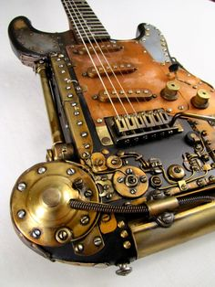 Steampunk Coppercaster Guitar