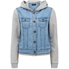 Forever New Claire fleece denim jacket ($43) ❤ liked on Polyvore featuring outerwear, jackets, tops, shirts, gina wash, blue fleece jacket, button fleece jacket, jean jacket, long sleeve denim jacket and blue jackets