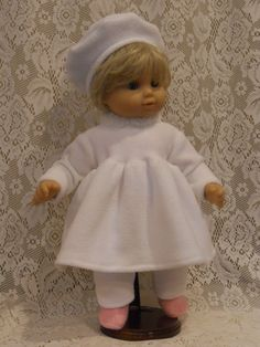 """White 16"""" doll outfit"""