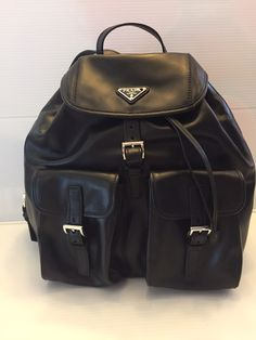 Prada Nwt Soft Calf Double Pocket ($2050) Backpack. Get one of the hottest styles of the season! The Prada Nwt Soft Calf Double Pocket ($2050) Backpack is a top 10 member favorite on Tradesy. Save on yours before they're sold out!