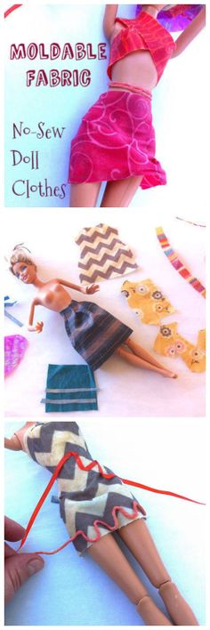 Moldable Fabric for Doll Clothes #toy #dressing #fashion #Barbie