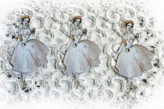 New Listing~Reneabouquets Vintage Fairy Ballerinas #2 Die Cut Set, Scrapbook Embellishment, Ballerina Fairies, Die Cuts
