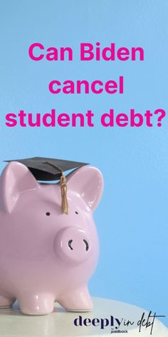 Can President Biden cancel student debt? And will he? And if so, how much will he cancel? Everything you need to know about student loan forgiveness under the Biden Administration here. Federal Student Loans, Paying Off Student Loans, Student Loan Debt, Student Loan Repayment, Student Loan Forgiveness, Best Money Saving Tips, Budgeting Worksheets, Get Out Of Debt, Debt Payoff