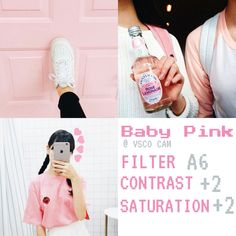 """ Baby Pink "" VSCO CAM filter to INSTAGRAM  By @immabeveera…"