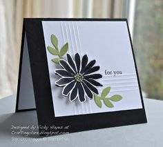 Stampin' Up ideas and supplies from Vicky at Crafting Clare's Paper Moments: Secret Garden - handkerchief-style!