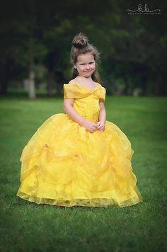 9e1828c93b33 Belle Dress / Disney Princess Dress Beauty and the Beast Belle Costume / Yellow  Dress / Ball gown for toddler, child, girl Belle Costume