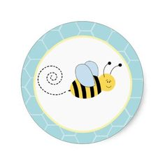 Buzzy Bees Bumble Bee Envelope Seals / Toppers 20 Sticker