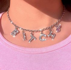 Harajuku Letter Crystal Angel Necklace Women Jewelry Couple Gift Neckl – hkying Don the wristbands, Boujee Aesthetic, Bad Girl Aesthetic, Aesthetic Collage, Aesthetic Vintage, Aesthetic Pictures, Baby Pink Aesthetic, Aesthetic Women, Aesthetic Grunge, Aesthetic Pastel Wallpaper