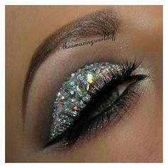 25+ best ideas about Sparkly eye makeup on Pinterest ❤ liked on Polyvore featuring beauty products, makeup and eye makeup