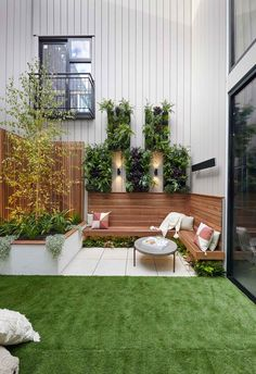 Andy and Deb have transformed House 3 on The Block 2019 into a contemporary coastal chic abode. Take the grand tour. Back Garden Design, Small Backyard Design, Small Backyard Gardens, Small Backyard Landscaping, Backyard Garden Design, Backyard Ideas, Small Backyards, House Yard Design, Small Garden Landscape Design