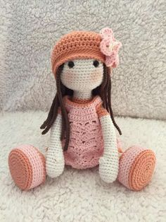 """If you have spent any time in the world of crochet then there's a good chance that you have heard the term """"amigurumi"""". Browsing through amigurumi crochet patterns, you might get a sense of what this niche of the craft is, but you may not know for su Crochet Rabbit, Crochet Bunny Pattern, Crochet Animal Patterns, Cute Crochet, Crochet Animals, Doll Patterns, Crochet Geek, Knitted Dolls, Crochet Dolls"""