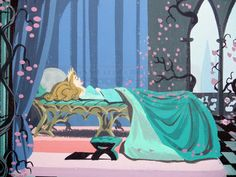Sleeping Beauty in softness (said to be within the portfolio of legendary Eyvind Earle).